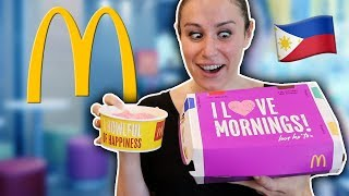 BEST McDonalds Breakfast EVER!! in the Philippines