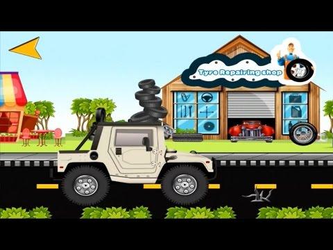 Cartoon about cars. Tyre Repairing Shop. SUV. Шиномонтаж. Внедорожник.