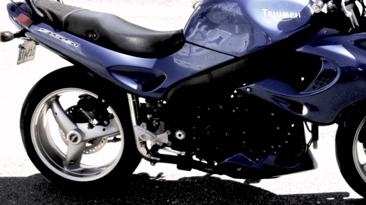 triumph sprint 955i with powermax exhaust soundtrack rode svm on