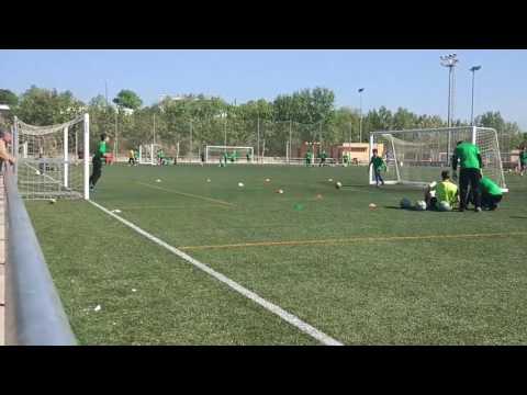 Batalla porteros campus  cesar lainez en Zaragoza.{Porterias mas cerca que en futbol emotion SP }3/4