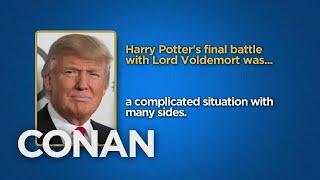Celebrity Surveys: President Trump, Steve Bannon Edition  - CONAN on TBS