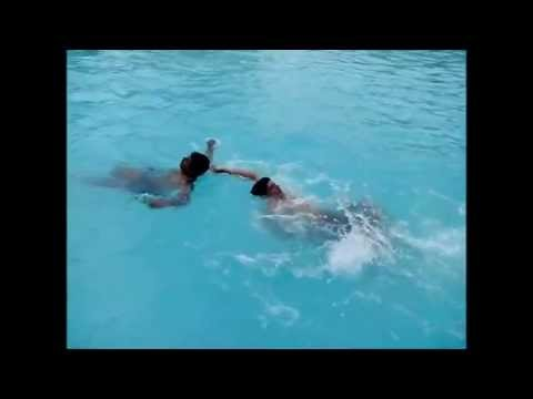 Head On Collision Inside Swimming Pool Very Funny Youtube