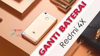 7 Menit Cara Mudah Mengganti Baterai Xiaomi Redmi 4X Khusus Pemula: LCD nya Sampe Ngangkat - BM47