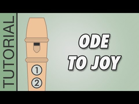 How to play Ode to Joy on the Recorder - Easy Tutorial