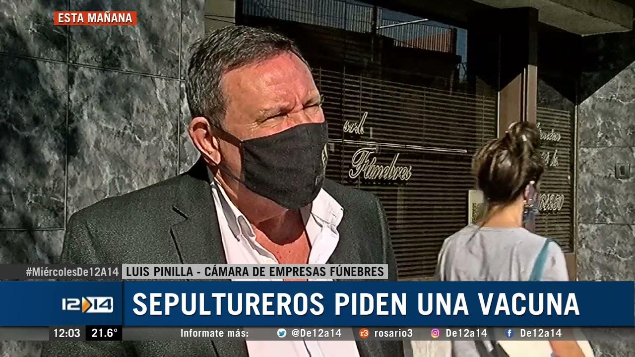 Sepultureros advierten con suspender servicios si no son vacunados |  Rosario3