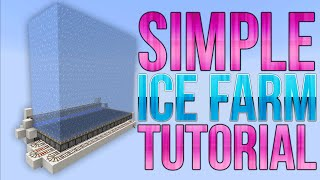 Minecraft - Automatic Ice Farm - Simple Redstone Tutorial