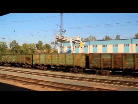 Поездка на поезде от Новосибирска до Томска