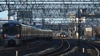 【ポイント不転換発生ver】JR京都線平日朝ラッシュ【5倍速】