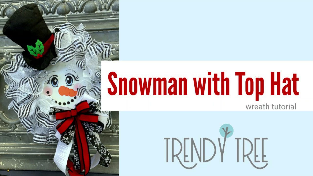 snowman wreath easy tutorial by trendy tree