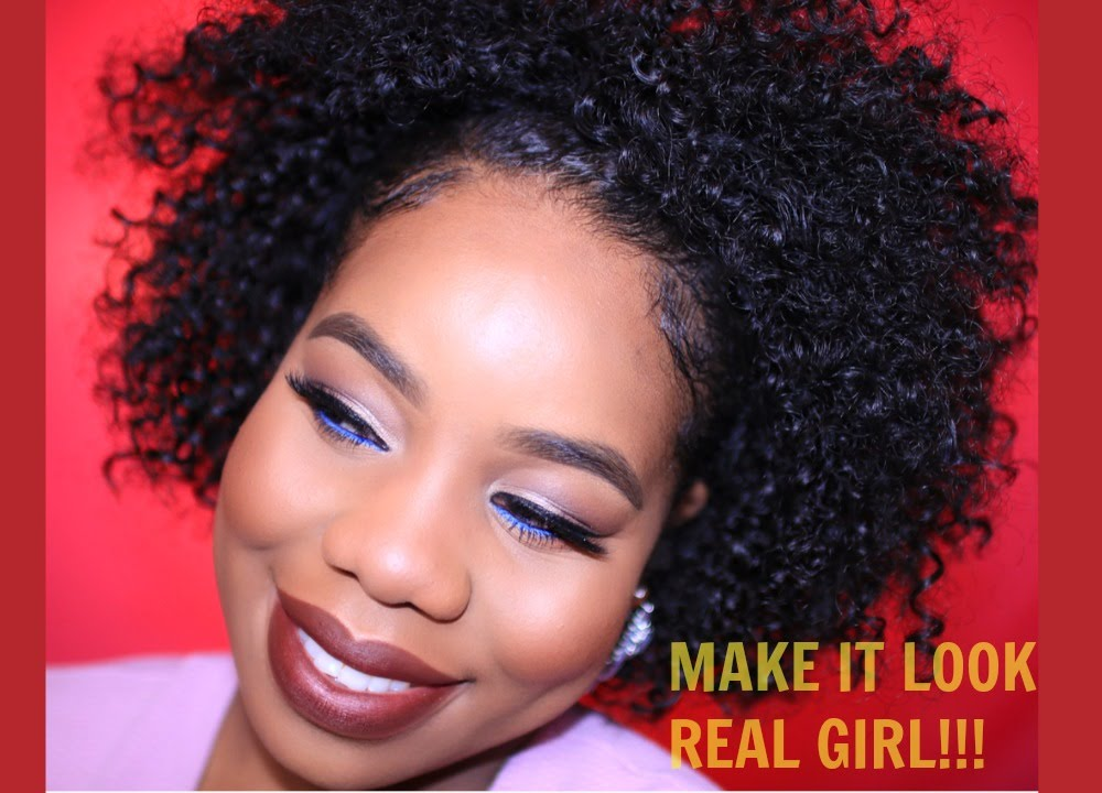 wig protective style natural hair hair best real looking half wig 4866 | maxresdefault