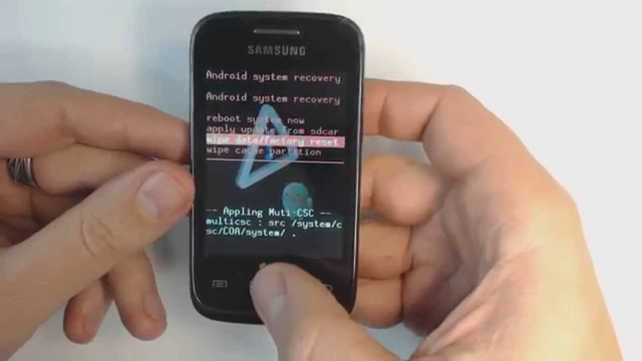 Format Samsung Galaxy Young S6310 New Y Duos S6102 Hard Reset Youtube