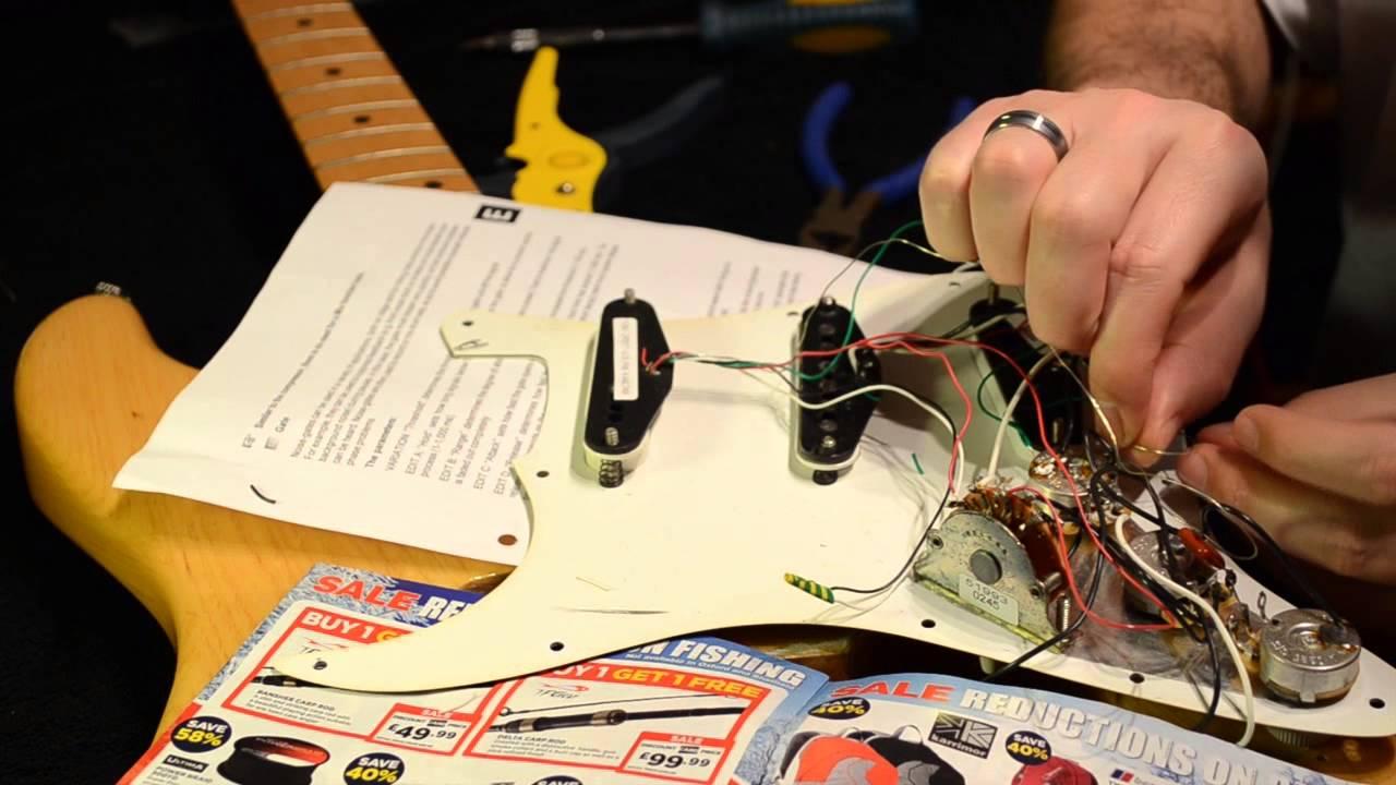 medium resolution of how to install dimarzio hs 3 in fender strat part 2 youtube danelectro wiring diagrams dimarzio wiring diagram stratocaster