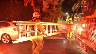 Camille Grammer's House Lost in Woolsey Fire Night 3 / Malibu  11.10/11.18