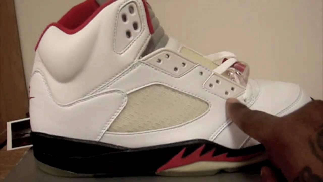 99 Air Jordan Rouge Feu V Recul