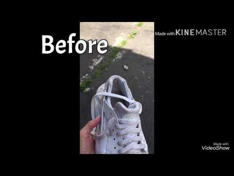 How to deep clean white huaraches
