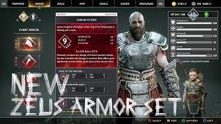 Zeus Armor Set Show Case | God of War New Game Plus