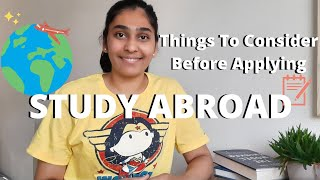STUDY ABROAD - Things To Do Before Applying