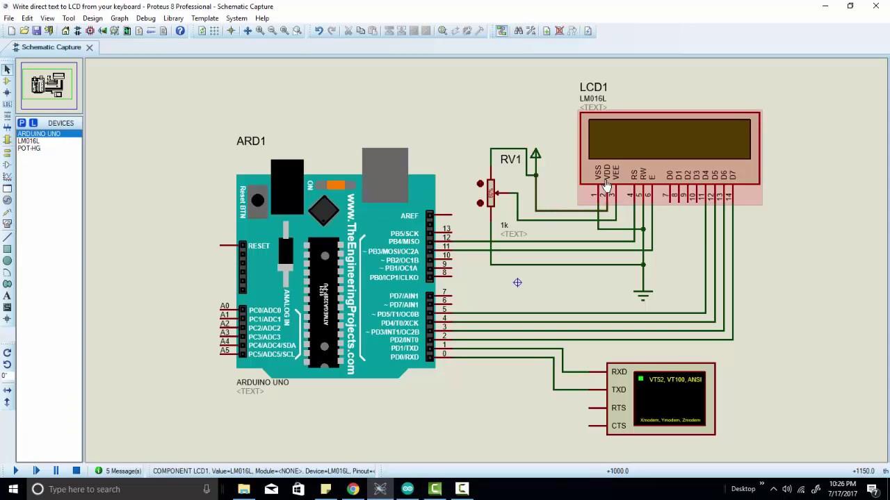 write serial port data on LCD using arduino