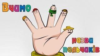 Вчимо назви пальчиків | Розвиваючі уроки для дітей