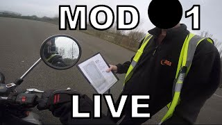MOD 1 2019 - UK Motorbike Test - Live Footage with Commentary (1/7)