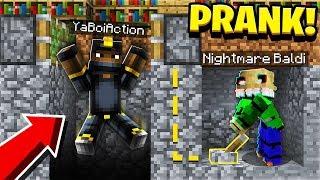 Pranking as NIGHTMARE BALDI in Minecraft! (He *FREAKED* When He Saw Nightmare Baldi)