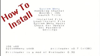 How To Install Priiloader On Nintendo Wii 4.3U (BootMii Backup)