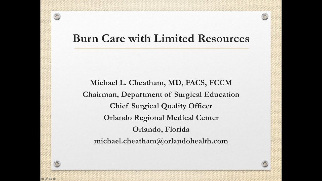 Webinar: Burn Care with Limited Resources