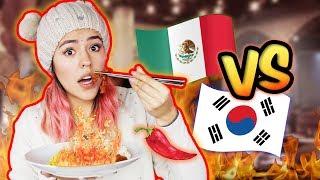 QUIÉN COME MÁS PICANTE MEXICANOS O COREANOS  | POLINESIOS VLOGS
