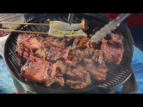 Korean Galbi BBQ: Grilled Beef Short Ribs (갈비구이)