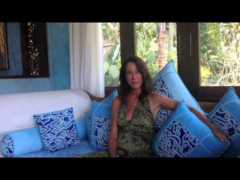 Interview with Caroline Tyler, of Caroline Tyler Jewelry, at the Pelangi Estate in Ubud, Bali