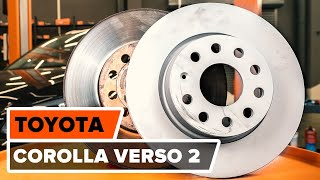 How to replace Brake shoe set TOYOTA COROLLA Verso (ZER_, ZZE12_, R1_) Tutorial