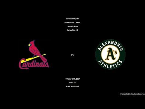 [10.28.2017] Alexandria A's vs. DC Cardinals [Playoffs-Second Round-Game 1]