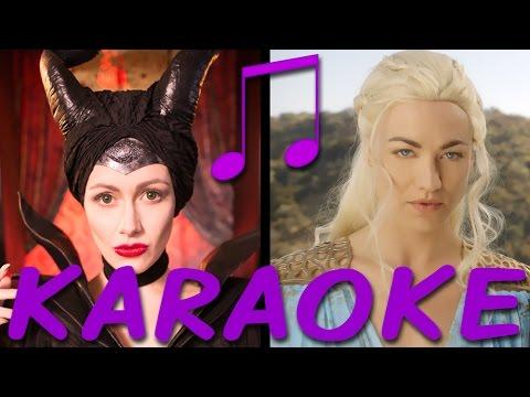 MALEFICENT vs DAENERYS Karaoke (Princess Rap Battle) Instrumental Sing-along