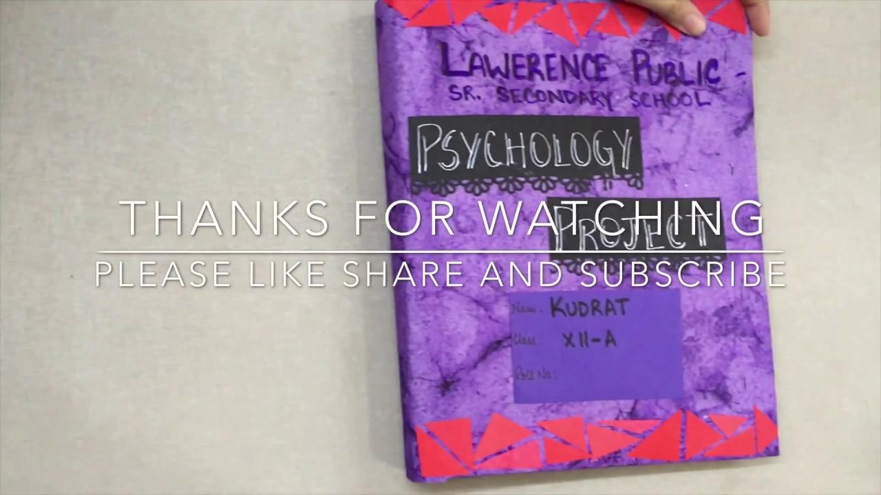 PSYCHOLOGY PROJECT CLASS 12 CBSE - SCHIZOPHRENIA - CASE STUDY