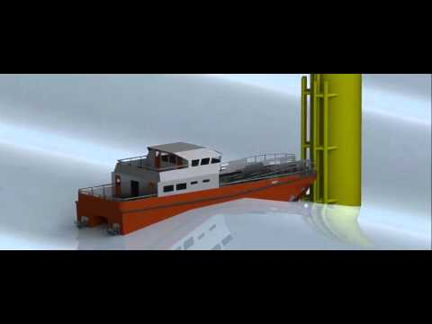 North Sea Logistics Pivoting Deck Vessel - animation
