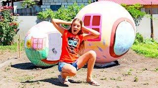 Дом гигант из бумаги — для Принцессы лол! для детей