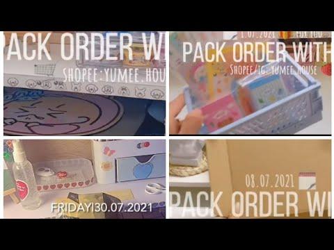 [GÓI HÀNG] Video gói hàng siu cute ,🍀🌷sticker ,washi tape,sổ ,..... 😘(Tiên cherry)✔️