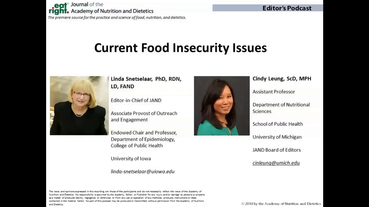Home Page: Journal of the Academy of Nutrition and Dietetics