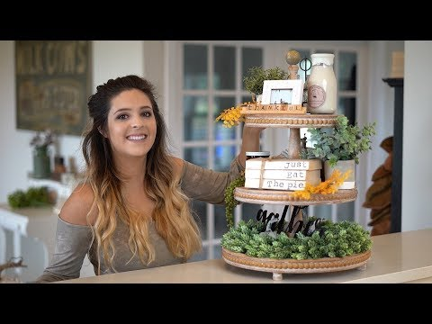 How to Decorate a Three Tier Tray For Fall + FM FARMHOUSE SUBSCRIPTION BOX