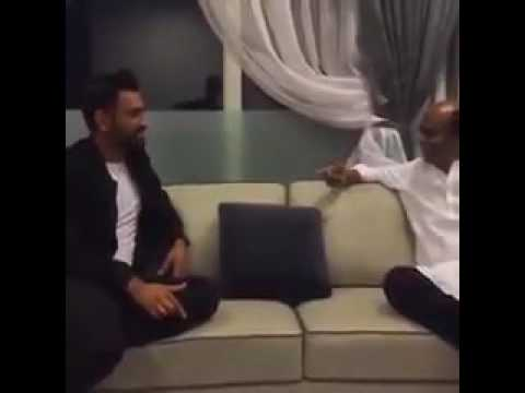 Indian Captain Dhoni Meets Superstar Rajinikanth