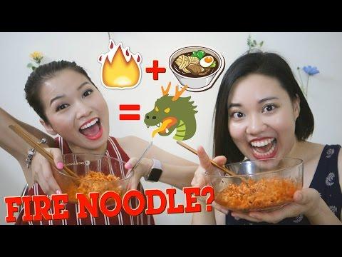 THỬ THÁCH MÌ CAY HÀN QUỐC | Fire noodle challenge ft. Pretty.Much | The Kick-Ass Red Lipstick