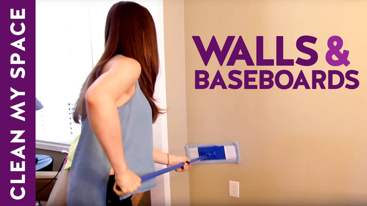 How to Clean Walls  Baseboards Clean My Space  YouTube