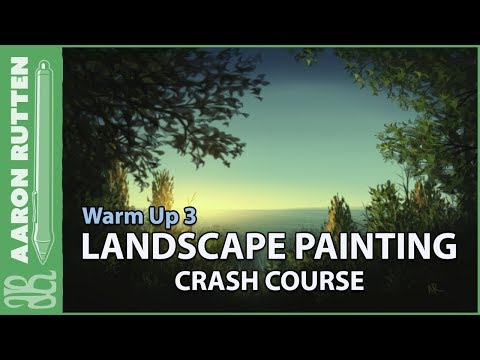 Bluff & Distant Ocean Observations – Landscape Painting Crash Course (Warm Up 3)