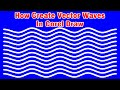 How create vector waves in Coreldraw / Download Cdr File Free