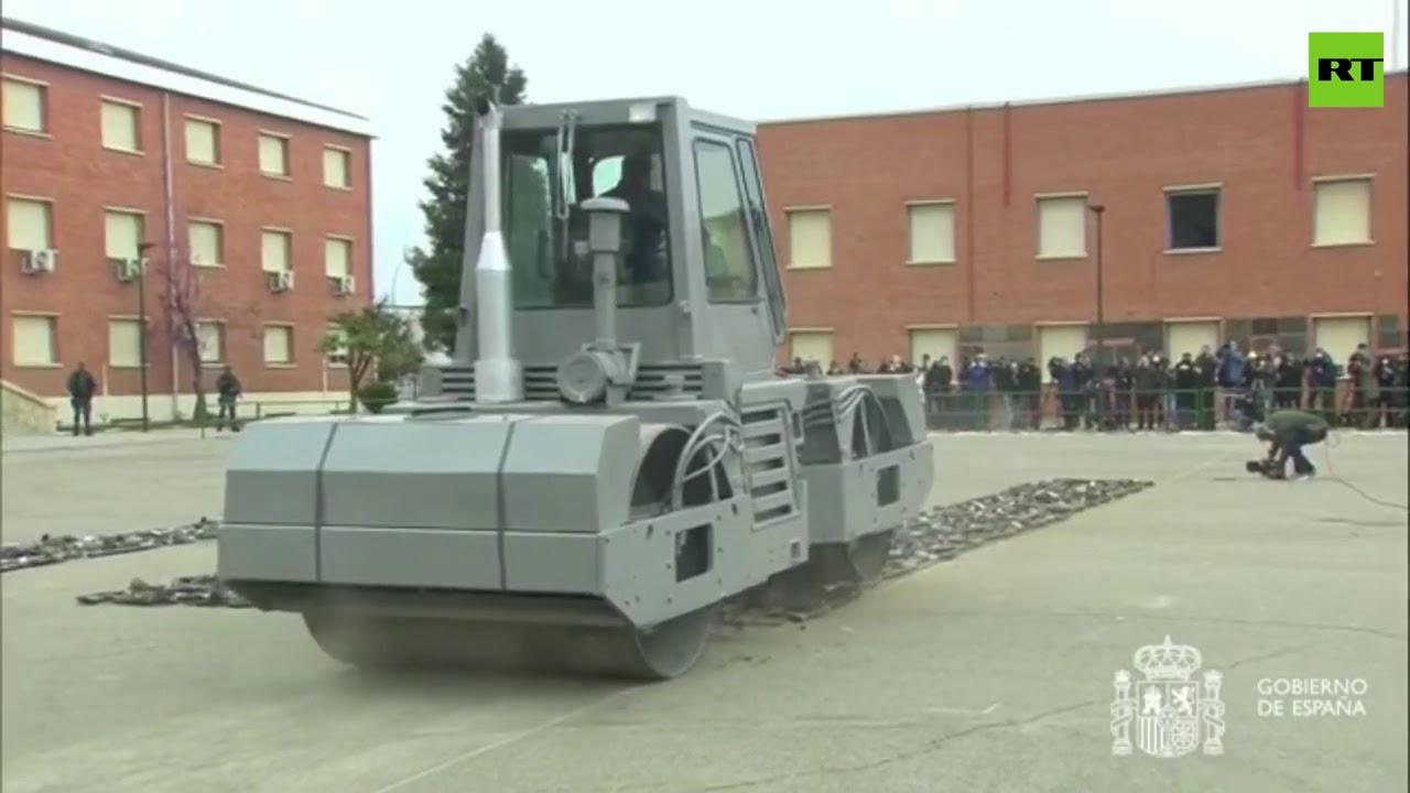 إتلاف 1400 قطعة سلاح مصادرة من المنظمات الإرهابية في إسبانيا  - نشر قبل 4 ساعة