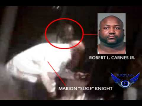 Suge Knight footage moments before he gets beat up.