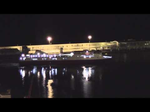 Barcelona Harbour Ferry Docking - Timelapse [HD]