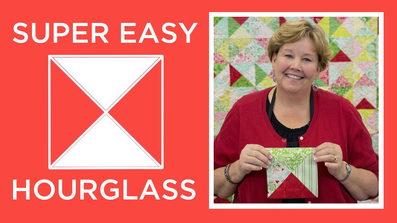 Jenny S Super Easy Hourglass Quilt Youtube