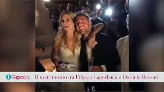 Il matrimonio tra Filippa Lagerback e Daniele Bossari (VIDEO)
