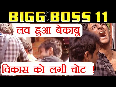 Bigg Boss 11:Vikas Gupta gets INJURED as Luv Tyagi gets PHYSICAL during the task | FilmiBeat